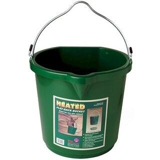Farm Innovators FB-120 Plastic Oversized Heated Flat-Back Bucket, 120W, 5 Gal
