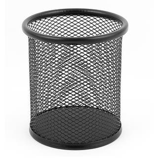 Office Metal Mesh Pen Pencil Ruler Holder Container Storage Organizer Black|https://ak1.ostkcdn.com/images/products/is/images/direct/6db90483e9aa23911d959f90b706f8afa284ee71/Office-Metal-Mesh-Pen-Pencil-Ruler-Holder-Container-Storage-Organizer-Black.jpg?impolicy=medium