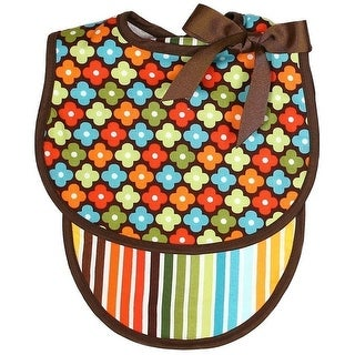 Raindrops Baby Boys Geometric Floral Bib And Burp Set, Brown - One size