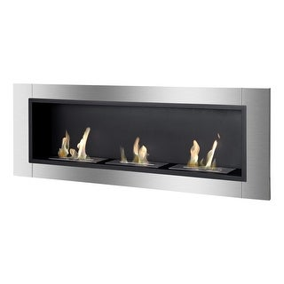 Ignis WMF-022-2 Ardella Wall Mounted / Recessed Ventless Ethanol Fireplace - black, stainless steel