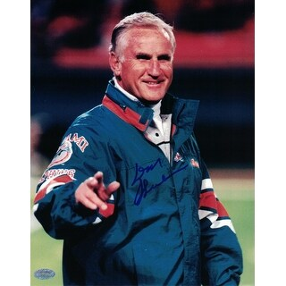 Don Shula Miami Dolphins Signed 8x10 Photo NFL Authenticated Mounted Memories - TEAL