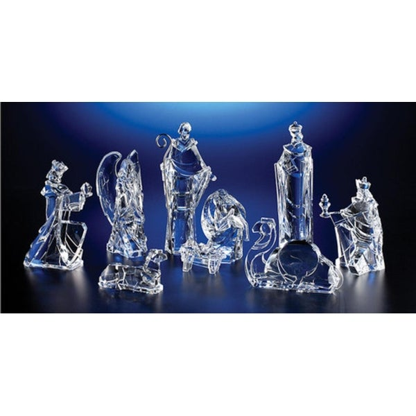 """Pack of 2 Icy Crystal Religious Christmas Nativity Figurines 8.8"""""""