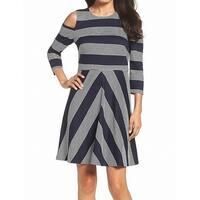 Eliza J Women's Striped Cold-Shoulder Sheath Dress