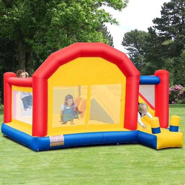 Shop Costway Inflatable Bounce House Slide Bouncer Castle ...