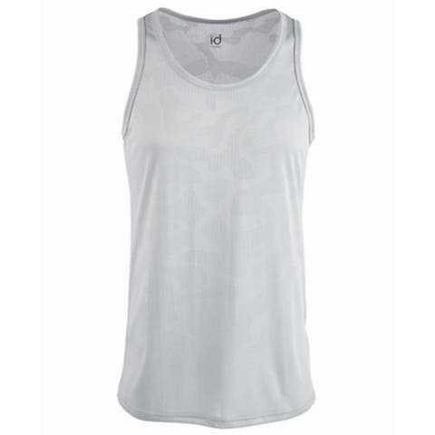 Ideology Men's Tank Top Silver Size XL Jacquard Camo Mesh Sleeveless 194