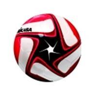 Mikasa Sce Series Size 5 Soccer Ball - Black, White & Red