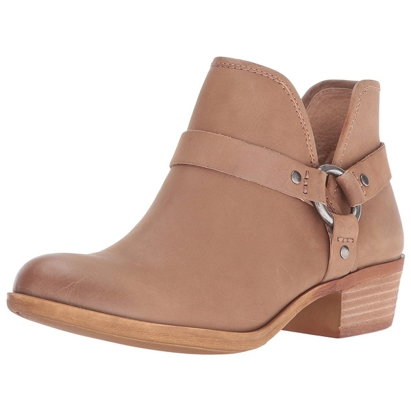 Lucky Brand Womens Bashira Leather Closed Toe Ankle Fashion Boots