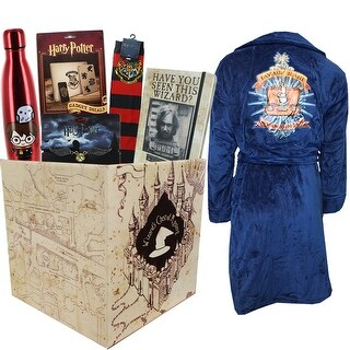 Harry Potter Gift Box with Water Bottle & Fantastic Beasts Bath Robe - multi