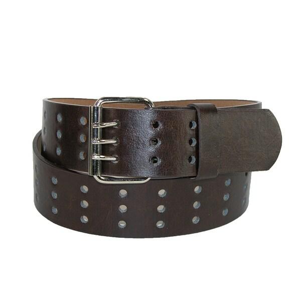 CTM® Men's 3 Prong Bridle Jean Belt