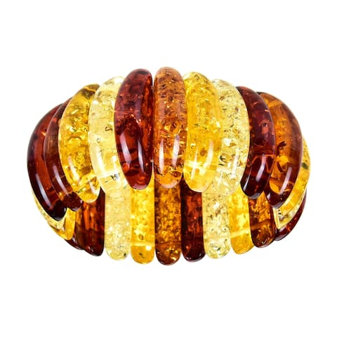 Multi Color Amber Swirl Stretch Bracelet