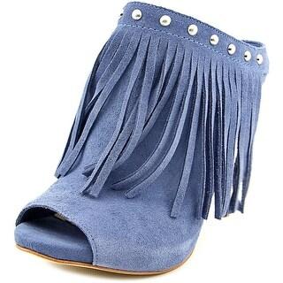 Guess Ara   Peep-Toe Suede  Heels