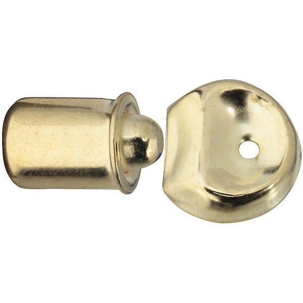 """National Hardware N219-055 Bright Brass Bullet Catch, 3/8"""" Bore, Steel"""