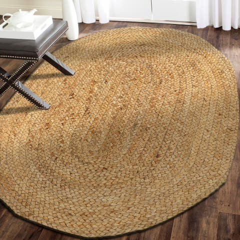 LR Home Natural Jute Simplicity Indoor Area Rug ( 2' x 3' Oval ) - 2' x 3'