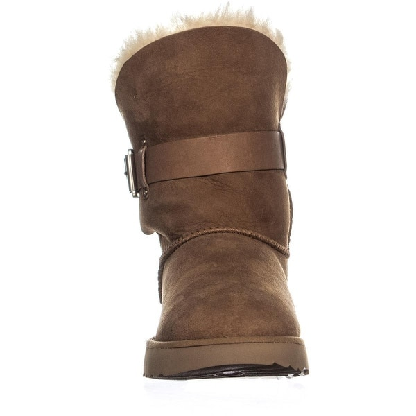 9c809819aac Shop UGG Jaylyn Shearling Boots, Chestnut - Free Shipping Today ...
