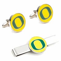 University of Oregon Ducks Cufflinks and Tie Bar Gift Set - Multicolored