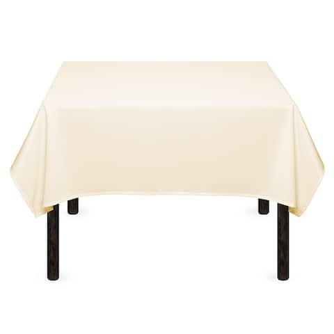 """1-Count 54"""" Premium Square Tablecloth - Ivory by Mill & Thread"""