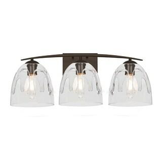 "Besa Lighting 3WC-PHAN6 Phantom 3 Light 25"" Wide Bathroom Vanity Light with Glas (5 options available)"