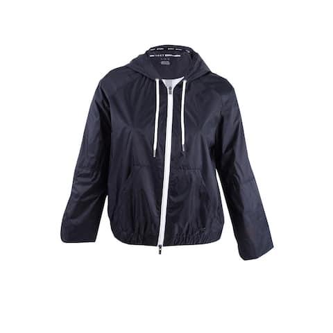 DKNY Women's Hooded Jacket L, Black - L