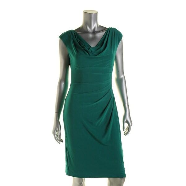 Lauren Ralph Lauren Womens Casual Dress Sleeveless Stretch