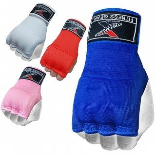 Training Boxing Inner Gloves Hand Wraps MMA Fist Protector Bandages Mitts G100-Blue