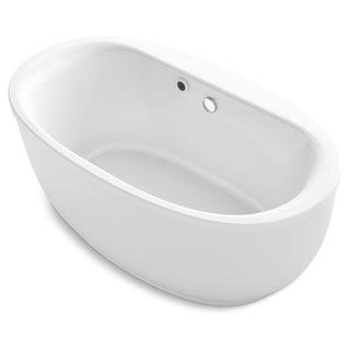 Kohler K 24002 W1 Sunstruck 61 Free Standing Acrylic Soaking Tub With White Overstock 28320682