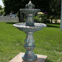 Sunnydaze Nouveau Tiered Garden Water Fountain 41 Inch Tall