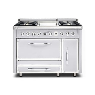 Viking TVDR4804G 48 Inch Wide 6.2 Cu. Ft. Free Standing Dual Fuel Range with Sur