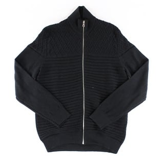 INC NEW Deep Black Mens Size XL Full Zip Ribbed Mock-Neck Sweater|https://ak1.ostkcdn.com/images/products/is/images/direct/6dc643bcd7ee2fbd6a5e0f57ca464f8283d497ac/INC-NEW-Deep-Black-Mens-Size-XL-Full-Zip-Ribbed-Mock-Neck-Sweater.jpg?impolicy=medium