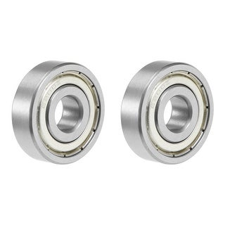 6200ZZ Deep Groove Ball Bearing 10x30x9mm Double Shielded Chrome Bearings 2pcs - 2 Pack - 6200ZZ (10*30*9)