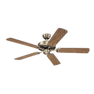 """Westinghouse 78018 Contractor's Choice Ceiling Fan, 52"""", Antique Brass"""