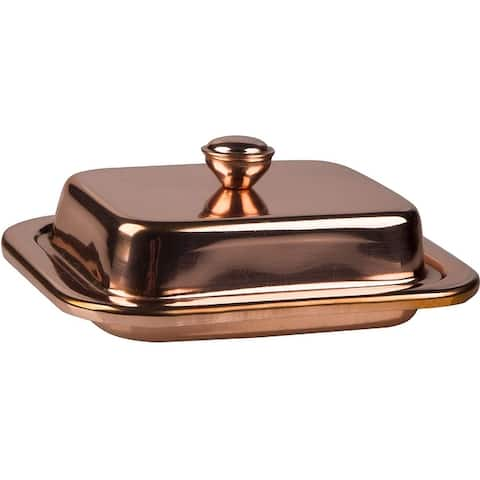 Palais Essentials Steel Covered Butter Dish