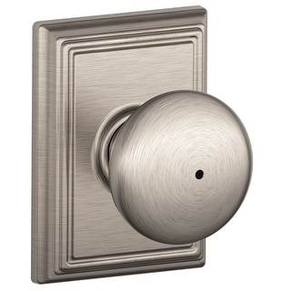 Schlage F40-PLY-ADD  Plymouth Privacy Knob Set with Decorative Addison Trim