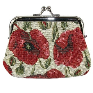 Link to CTM® Women's Poppy Print Tapestry Coin Purse Wallet - one size Similar Items in Wallets