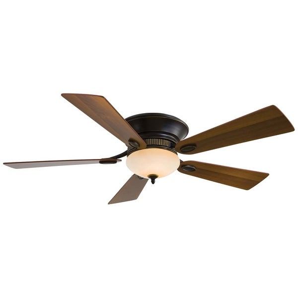 """MinkaAire Delano II 52"""" 5 Blade Delano II Hugger Ceiling Fan with Blades and Integrated Halogen Light Included - n/a"""