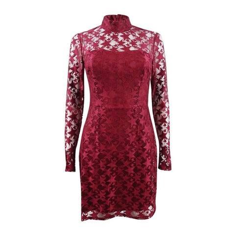 Betsey Johnson Women's Star Lace Dress - Deep Red