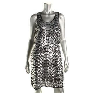 MICHAEL Michael Kors Womens Sequined Snake Print Tank Dress