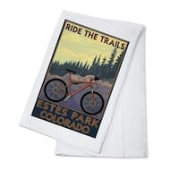 Estes Park, CO - Ride the Trails - LP Artwork (100% Cotton Towel Absorbent)