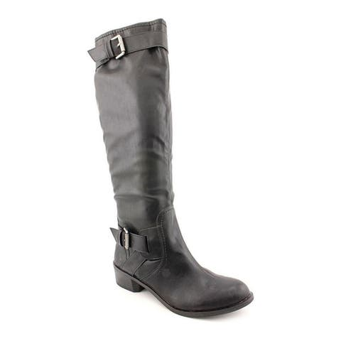 Style & Co. Womens Wide Calf Moto Boots, Black, 5.5 B(M) US