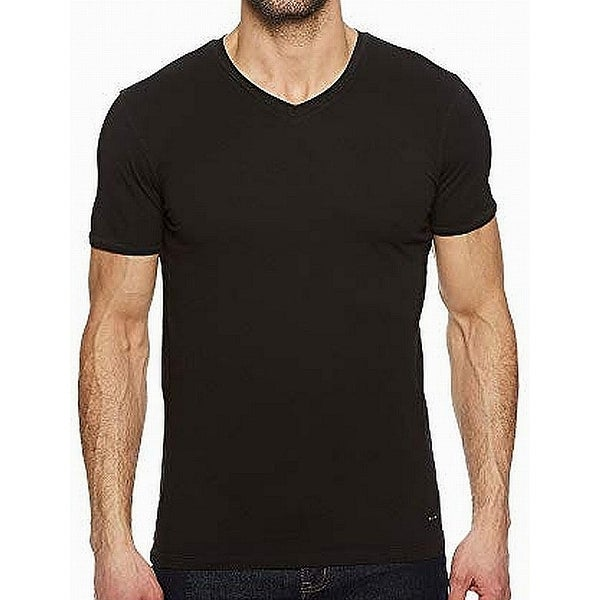 1ab4bcbaf Shop Hugo by Hugo Boss Black Short Sleeve Mens Small S V-Neck T-Shirt - On  Sale - Free Shipping On Orders Over $45 - Overstock - 27124631