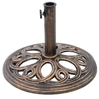 Costway Patio Outdoor Round Umbrella Base Stand Cast Iron