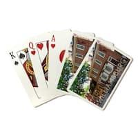 Williamsburg, Virginia Main Steet View - LP Photo (Poker Playing Cards Deck)