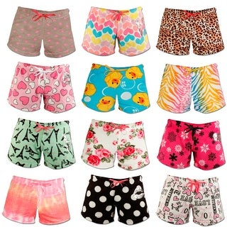 4-Pack: Women's Super Soft Printed Ultra Plush Shorts