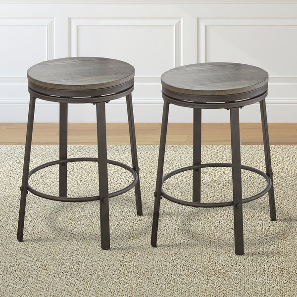 Perry Grey Counter Height Swivel Stool by Greyson Living (Set of 2) - See Product Description. Opens flyout.