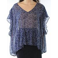 Halogen Danity Flower Print Women's Medium Chiffon Blouse