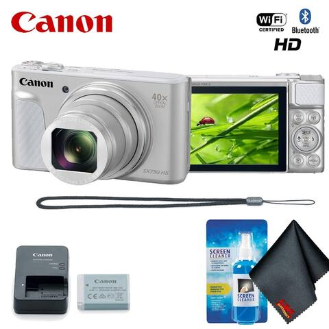 Canon PowerShot SX730 HS Digital Camera (Silver) Base Accessory Kit