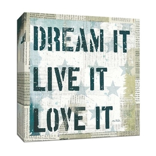"""PTM Images 9-152190  PTM Canvas Collection 12"""" x 12"""" - """"American Dream II"""" Giclee Sayings & Quotes Art Print on Canvas"""