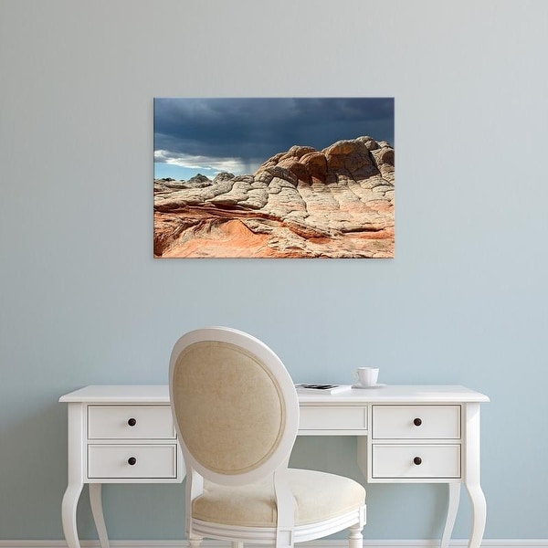 Easy Art Prints Charles Crust's 'Stormy Sky Over Red Toned Sandstone' Premium Canvas Art