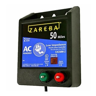 Zareba EAC50M-Z AC Low Impedance Fence Charger, 50 Mile