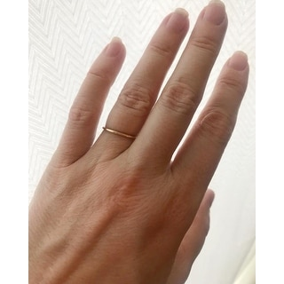 2b0ec36d5aae11 Shop 1mm Thin Domed Wedding Band in 14K Yellow Gold - Free Shipping ...