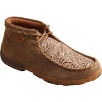 Twisted X Boots Women's Driving Moc Chukka Boot Bomber/Nude Print Leather